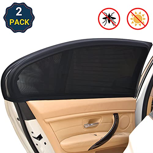 REACHTOP Car Window Screen Door Covers Universal Side Car Sun Window Shades for Baby Mesh Sleeve Car Mosquito Net for Camping Blocker Privacy Blackout for Auto Back Rear