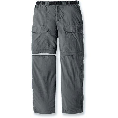 White Sierra Men's Trail 32-Inch Inseam Convertible Pant, Large, Caviar