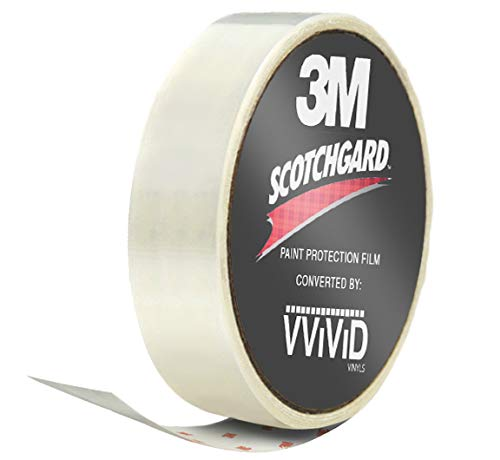 VViViD 3M Clear Scotchgard Paint Protector Vinyl Wrap 2 Inch Wide Tape Roll (2 Inch x 60 Inch)