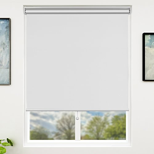 SUNFREE Blackout Window Shades Cordless Window Blinds with Spring Lifting System for Home & Office, 31 x 72 Inch, White