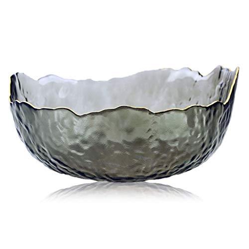 YBB-YB YankimX Phnom en Forma de Cuenco de Cristal Transparente una ensaladera Grande tazón de Lavado Postre té tazón de Fruta Resistente al Calor Cuencos tazones