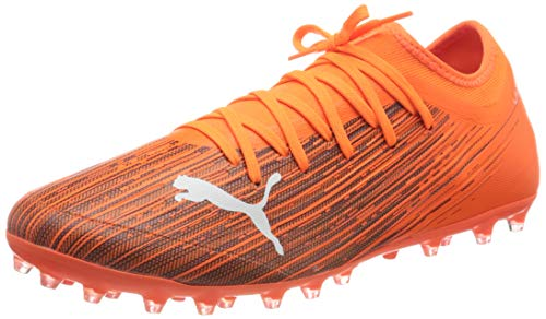PUMA Ultra 3.1 MG, Zapatillas de fútbol Hombre, Naranja (Shocking Orange Black), 46 EU