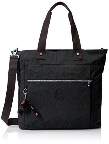 Kipling Lizzie Solid Travel Laptop Tote Shoulder Bag, Black