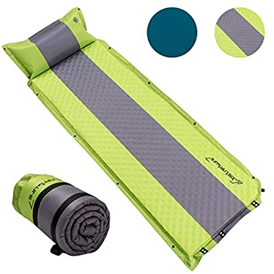 Self Inflating Sleeping Pad for Camping - 1.5-inch Camping Pad, Lightweight Inflatable Camping Mattress Pad, Insulated Foam Sleeping Mat for Backpacking, Tent, Hammock