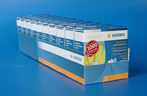 10 Packungen HERMA 1071 Fotokleber im Kartonspender 1.000 Stück (10 Packungen à 1.000 = 10.000 Stück)