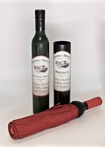 Paraplu - Wijnfles Vouwen: Zwart door Lesser & Pavey