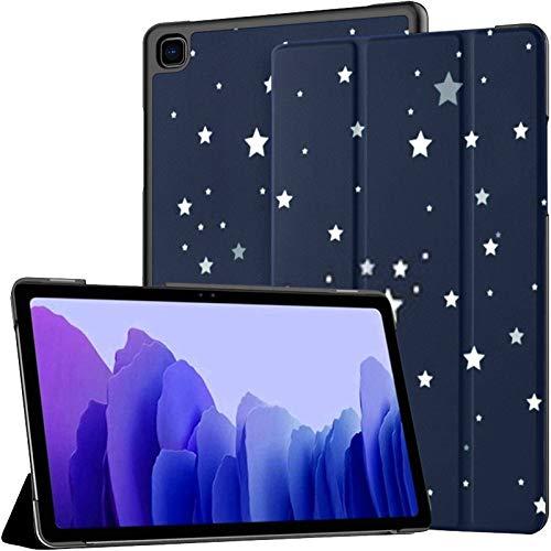 Funda para Samsung A7 2020 Bright Star Blue Dark Night Sky Fit Samsung Galaxy Tab A7 10.4 Pulgadas 2020 Compatible con Galaxy A7 Funda Funda Tablet Funda de Cuero PU