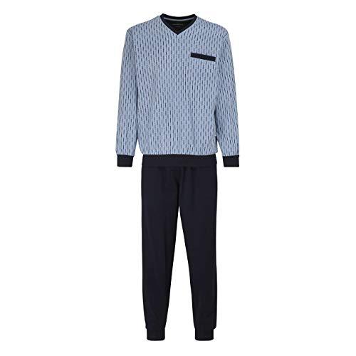 Götzburg Pyjama Herren Zweiteiliger Langer Schlafanzug aus Baumwolle 56