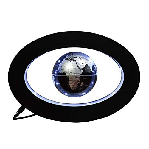 Globes World Sphere Map Blue Earth Oval Magnetic Levitation Globe Decoration Light Ornament HD Office Creative
