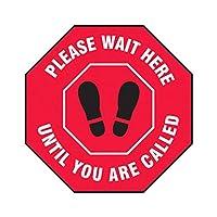 Fovor ステッカー 距離を保つ 八角形 人混みを避ける フロアサイン 呼びかけるまでお待ちください フロアマーカー Please Wait Here Until You are Called 滑り止めステッカー 社交距離保持 ドアステッカー PVCステッカー オフィスステッカー