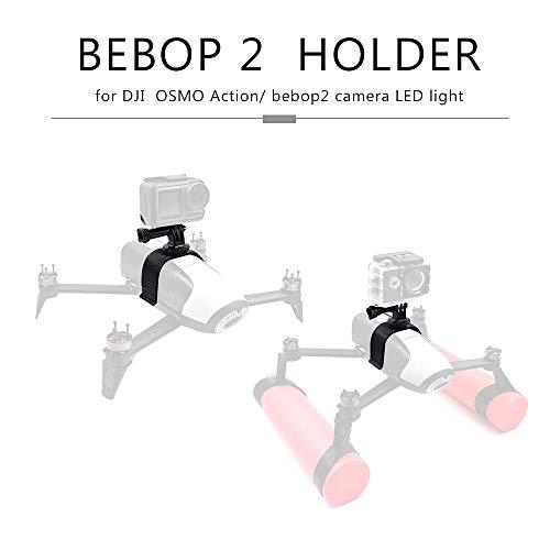 Leeofty Soporte de Montaje para cámara Soporte para Bastidor LED Accesorios de Cuadro para Action Camera Parrot Bebop 2 Drone