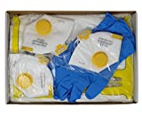 Set Schutzausrüstung: FFP2 Masken (3x)- Schutzanzug - Nitrilhandschuhe - Schuhschutz