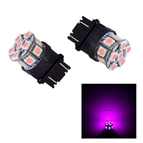 PA 2 x 13smd LED 3157 3457 A 3156 Arrêt automatique de la lumière/arrière/Side Marker Light/feu arrière/Turn Signal ampoules 12 V (Rose)