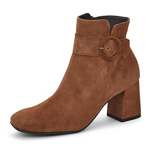 Paul Green Damen Stiefelette, Frauen Ankle Boots, reißverschluss Lady Ladies feminin elegant Women's Women Woman Freizeit,Braun,6 UK / 39 EU
