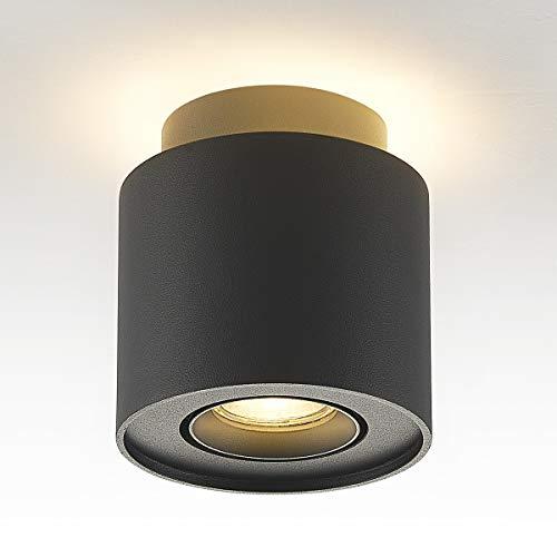Budbuddy 6+5W LED Aufputz Deckenstrahler Deckenspots Spotleuchte Aufbauspot Spotbalken GU10 230V [enthalten 6W leuchtmittel, schwenkbar] deckenaufbaustrahler