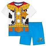 Disney Toy Story Pijama Niño Corto, Pijamas Niños de Buzz Lightyear y Woody, Ropa Niño de Algodon, Regalos para Niños Edad 2-10 Años (Azul, 2-3 años)