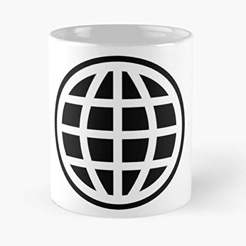 Swag Longitude Globe Latitude Map Sphere Skux World Best Taza de café de cerámica de 315 ml con texto en inglés 'Eat Food Bite John Best Taza de café de cerámica de 325 ml
