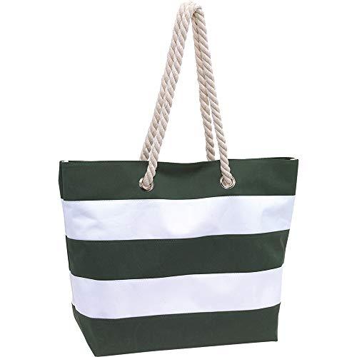 Topico Strandtasche Sylt, grün/weiß, ca. 47 x 17 x 34cm (bxtxh)