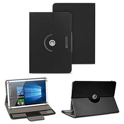 NAUC Tablettasche Hülle Cover für Acer Iconia One 10 B3-A30 Schutzhülle Case 360°, Farben:Schwarz