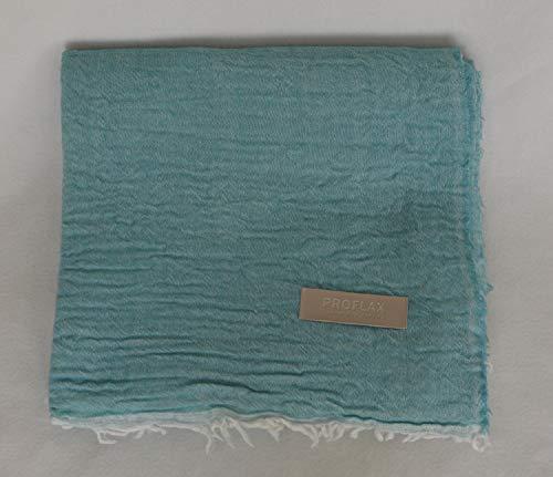 Proflax Plaid Minu, 100% Merinowolle, Größe 140 x 200 cm Farbe türkis/Mint