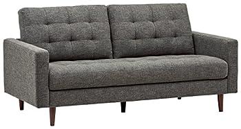 Amazon Brand – Rivet Cove Mid-Century Modern Tufted Apartment Sofa 72 W Dark Grey