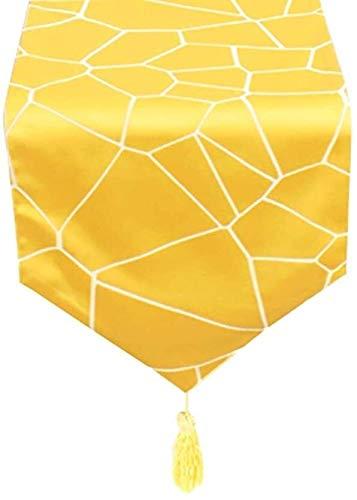 BECCYYLY Corredor de Mesa Estilo Europeo Camino de Mesa con borlas, fácil de Limpiar y cuidar, for Hotel Tocador Cocina Mesa de Comedor Inicio Manteles (Color : Style2, Size : 30×280cm)