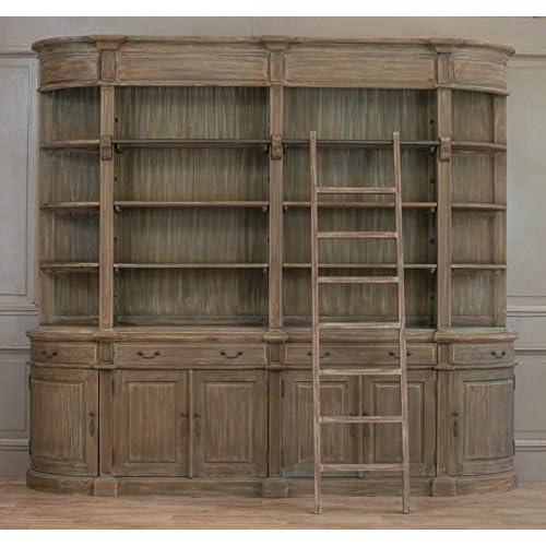 Libreria doppia in legno con scaletta extra large con stile Harry Potter