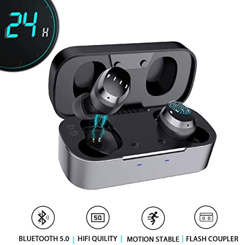 True Wireless Earbuds-FIIL TWS Bluetooth Earbuds, Wireless Bluetooth Earbuds, HiFi Earbuds with Wireless Charging Case, 24H Playtime,Auto Pairing &Touch Control, IPX5 Waterproof Wireless Bluetooth 5.0