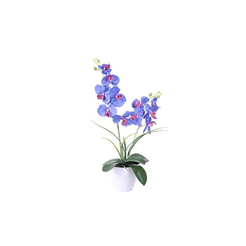 silk flower arrangements bonahanlong artificial flower orchid plant arrangements,silk flowers with vase 11 heads for home decor