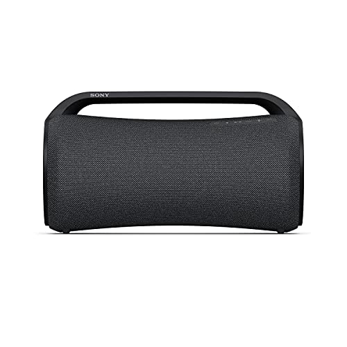 Sony SRS-XG500 tragbarer, robuster Bluetooth Party Lautsprecher mit sattem Sound, Beleuchtung und 30h Akku (IP66, MEGA BASS, Schnellladefunktion, Party Connect) Schwarz