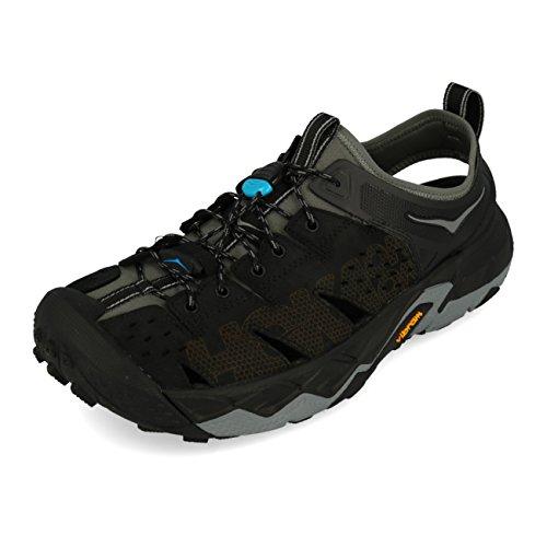 HOKA ONE ONE Men's Tor Trafa Hiking Sandal,Anthracite/Black,US 9 M