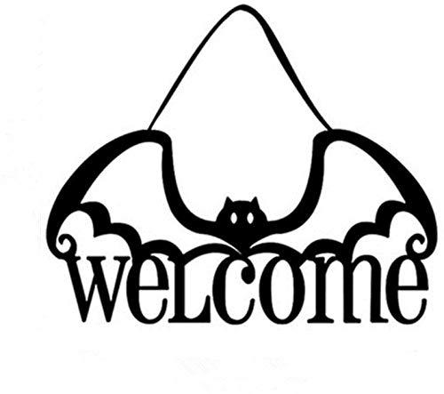 qingy Adornos de decoración de Halloween Truco o Trato Puerta Bruja Logo Fiesta Accesorios para Colgar al Aire Libre casa embrujada Tela no Tejida, Adornos WS-9