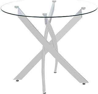 Gambe Per Tavoli Rotondi.Amazon It Tavoli Rotondi Vetro Tavoli Da Sala Da Pranzo
