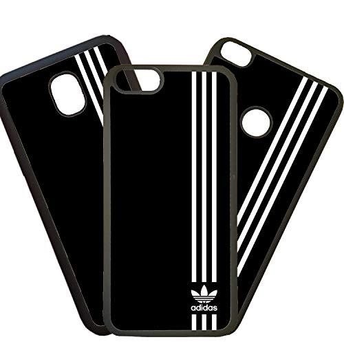 Tuscaprichosonline Custodie di Mobili Cover per Mobili Custodia Cover Compatibile con Logo Adidas Bianco - Samsung Galaxy S6 Edge