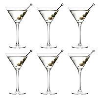 libbey joya bicchiere da cocktail martini - 260 ml / 26 cl - set di 6 - lavabile in lavastoviglie - perfetto per un cocktail party a casa