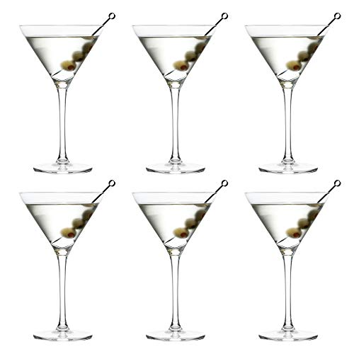 Copa de cóctel Martini Joya de Libbey – 260 ml / 26 cl - 6 unidades – Resistente al lavavajillas - Excelente para una fiesta de cóctel en casa