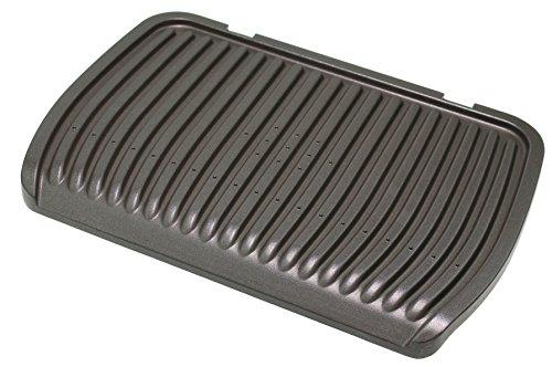 Grillplatte TS-01039400 (Unten) kompatibel mit GC702D, GC712D, GC730D, GC7148 Optigrill Kontaktgrill