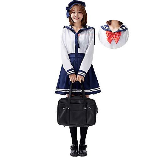 Uniforme Escolar Japonés Clásico Traje de Marinero de Anime Manga Larga/Corta Vestido de JK Conjunto Completo Disfraz de Halloween Cosplay para Niñas Mujeres
