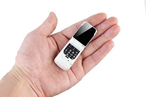 GAOFQ Mini teléfono móvil con Tapa más pequeño gsm Desbloqueado, minúsculo Mini 3 en 1 Marcador Bluetooth + teléfono Bluetooth + Micro SIM, con cámara, Radio FM, Reproductor de música