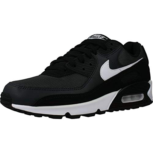 Nike Mens AIR MAX 90 Running Shoe, Iron Grey/White-DK Smoke Grey-Black, 45 EU
