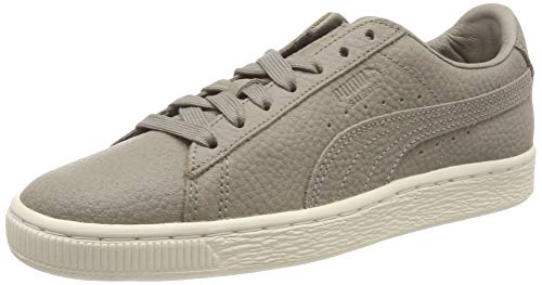 PUMA Unisex-Erwachsene Suede Classic Shearling Sneaker, Grau (Elephant Skin-Whisper White 03), 38 EU