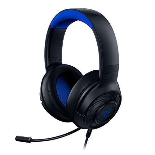 Razer Kraken X Ultralight Gaming Headset 7.1 Surround Sound - Lightweight Aluminum Frame - Bendable Cardioid Microphone - PC, PS4, PS5, Switch, Xbox One, Xbox Series X & S, Mobile - Black Blue