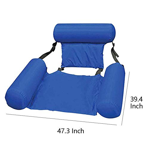 Duyifan Water Floating Hammock Swimming Pool Float Lounge, 4 in 1 Multi-Purpose Pool Hammock Pool Chair Portable Water Hammock Inflatable Rafts Floating Chair for Adults and Kids