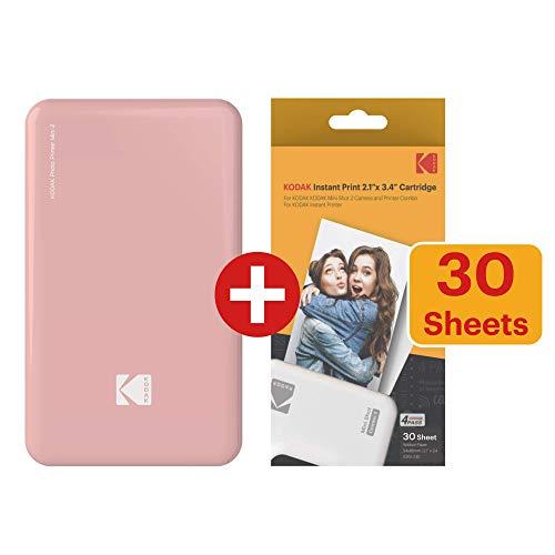 Kodak Mini2 Instant Photo Printer (Pink) Gift Bundle + Paper (20 Sheets) +...