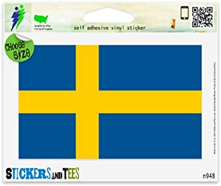 Sweden Swedish National Flag Vinyl Car Bumper Window Sticker 3