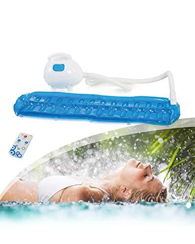 EnweHiko Badewannen-Massagegerät, Whirlpoolmatte für die Badewanne mit 3 Intensitätsstufen, Digitale LED-Anzeige, Ozonentgiftung für Die Lockerung von Verspannter Muskulatur
