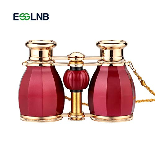 ESSLNB Opera Binoculars Glasses for Adults Women 4X30 Theater Binoculars Concerts Antique Compact Binoculars with Case Removable Chain