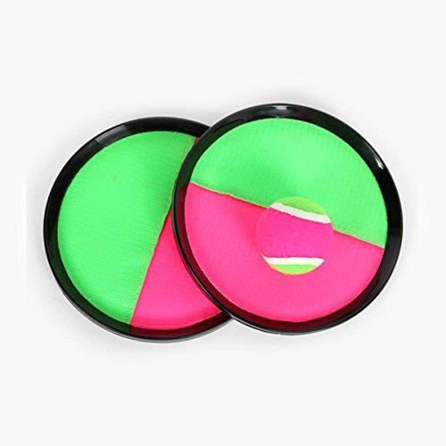 TOYANDONA los niños atrapan el Juego de Pelota Juego de Palas de Lanzamiento de Disco Ajustable al Aire Libre/Interior Juego de Juguetes Tirar Juego de Juguete de Bola de tirada