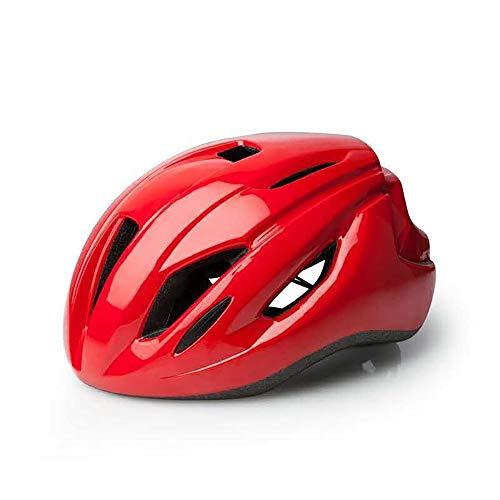 JIAGU Casco de bicicleta para adultos, casco neumático de bicicleta de montaña, casco integrado, casco de bicicleta de carretera, casco de equitación ultraligero (color: rojo, tamaño: L)