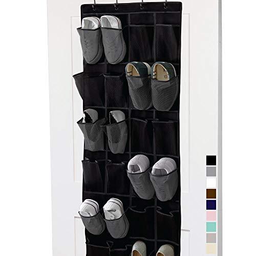 Gorilla Grip Over The Door Mesh Pocket Shoe Organizer, 24 Large Breathable...
